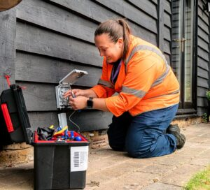 Home installation of new fibre lines to replace copper services